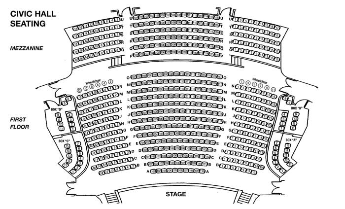 Seating Chart Box Office Civic Hall Performing Arts Center